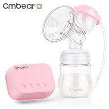 Cmbear Electric Baby Breast Pump Feeding Milk Bottle Breastfeeding USB Massage Milking Machine Nipple Suction