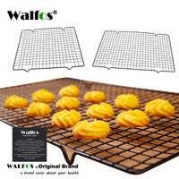 Estante de enfriamiento antiadherente de acero inoxidable WALFOS bandeja de rejilla de enfriamiento para horno para galletas/Pie/PAN/pastel rejilla para repostería gran oferta