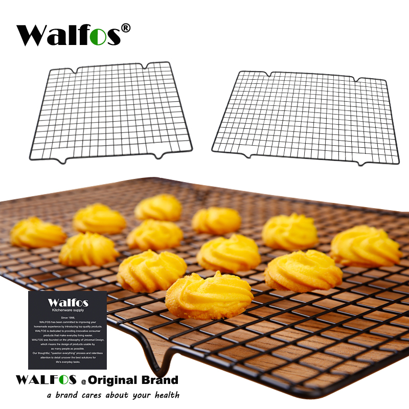 WALFOS Stainless Steel Nonstick Cooling Rack Cooling Grid Baking Tray For Biscuit/Cookie/Pie/Bread/Cake Baking Rack Hot Sale