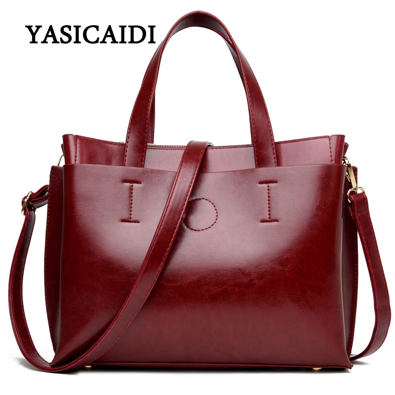 54739349d35847 2017 Ladies Hand Bags Famous Brand Bags Logo Handbags Women Fashion Black  Leather pochette Shoulder Bag Women Big Bags Purse - TakoFashion - Women's  ...