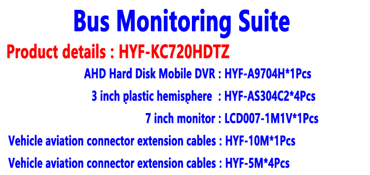 HD kit de monitoramento de ônibus semi-reboque saneamento carro táxi