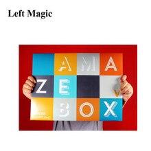 Amazebox por mark shortland truques mágicos caixa de troca para o mágico profissional estágio gimmicks ilusão mentalismo comédia g8295