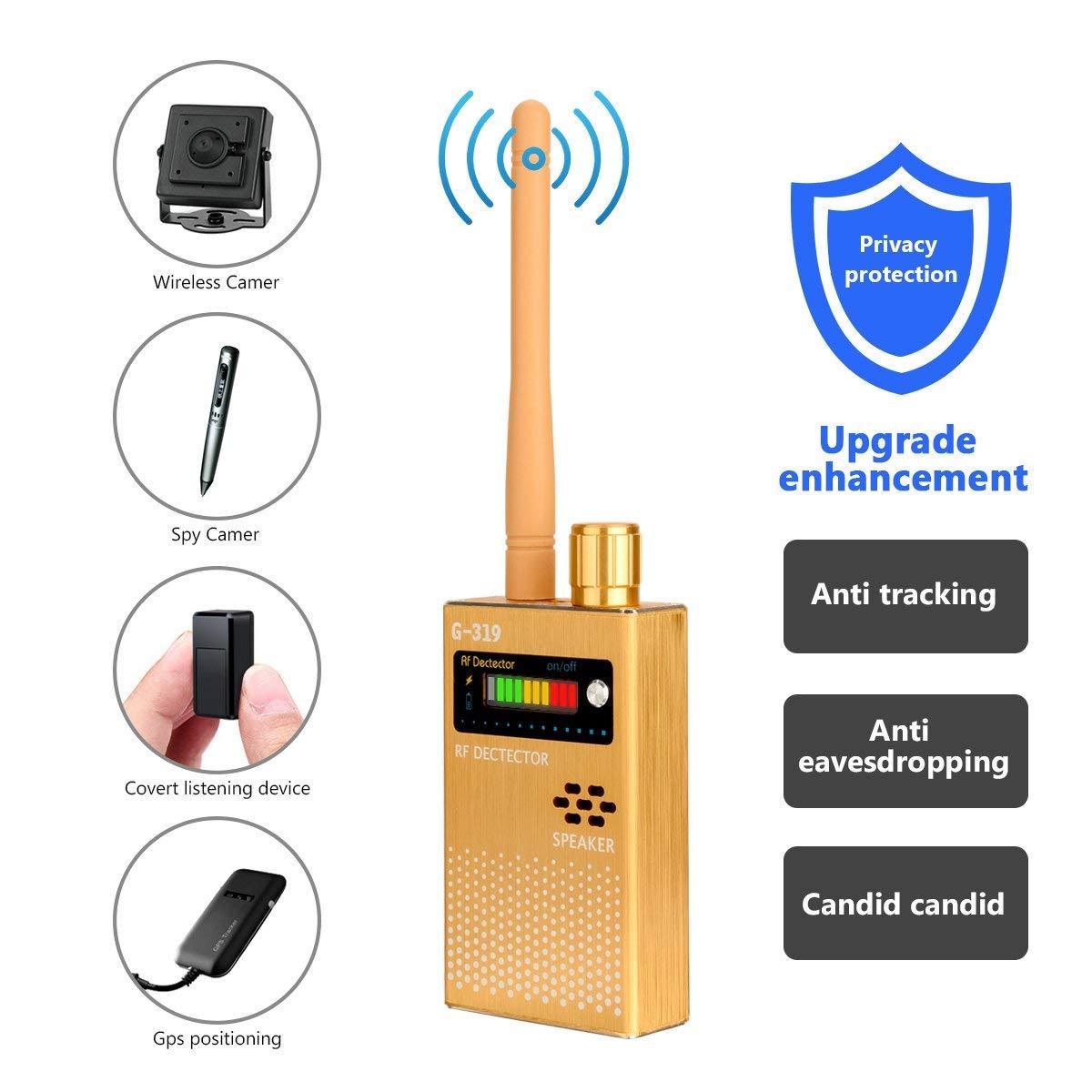 US $65 79 6% OFF|1MHz 8000MHz Radio Detection Anti Spy Signal Hidden Camera  GSM Audio Bug Finder 4G GPS Signals Lens RF Tracker Detectors Black-in
