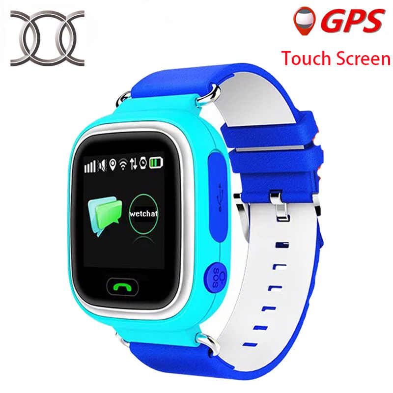 kids GPS Smart Baby Watch Q90 Touch Screen WIFI  watch phone SOS Calling tracker remote Monitor for children pk q50 q100 Q60