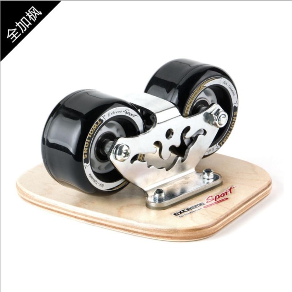 Купить с кэшбэком TWOLIONS Canadian Maple Freeline Skates Wooden Drift Skate Board Patines Scrub Deck FreeStyle Skates Moire Wakeboard