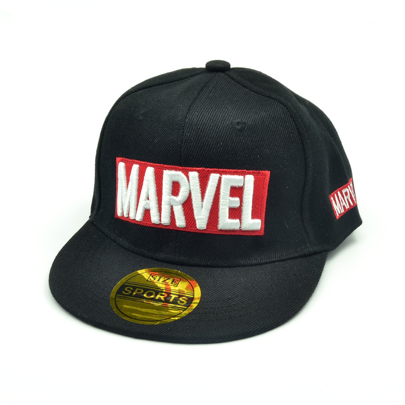 Marvel Baseball Children's Hat MARVEL Letter Hip-hop Hat Summer Outdoor Recreational Sunhat