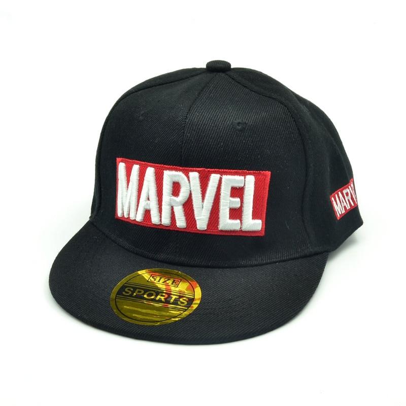 Marvel Baseball Children's Hat MARVEL Letter Hip-hop Hat Summer Outdoor Recreational Sunhat