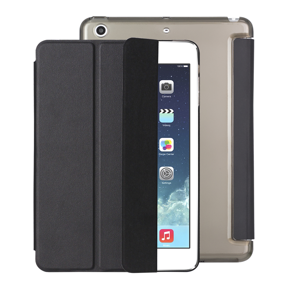 Ultra Slim Magnetic Smart Flip Stand PU Leather Cover Case For iPad Mini 1 2 3 PC Hard Back Cover for iPad Mini 3 2 1 Coque