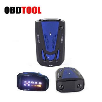 New Car Radar Detector 16 Band Voice Alert V7 Anti Radar Detector LED Display 360 Degrees Car Speed Testing System JC10