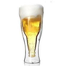 1 шт LONGMING HOME 350 мл Новинка Высокое качество креативная пивная чашка прочная Двойная Стенка стеклянная пивная конюшня горячая Распродажа OL 0132