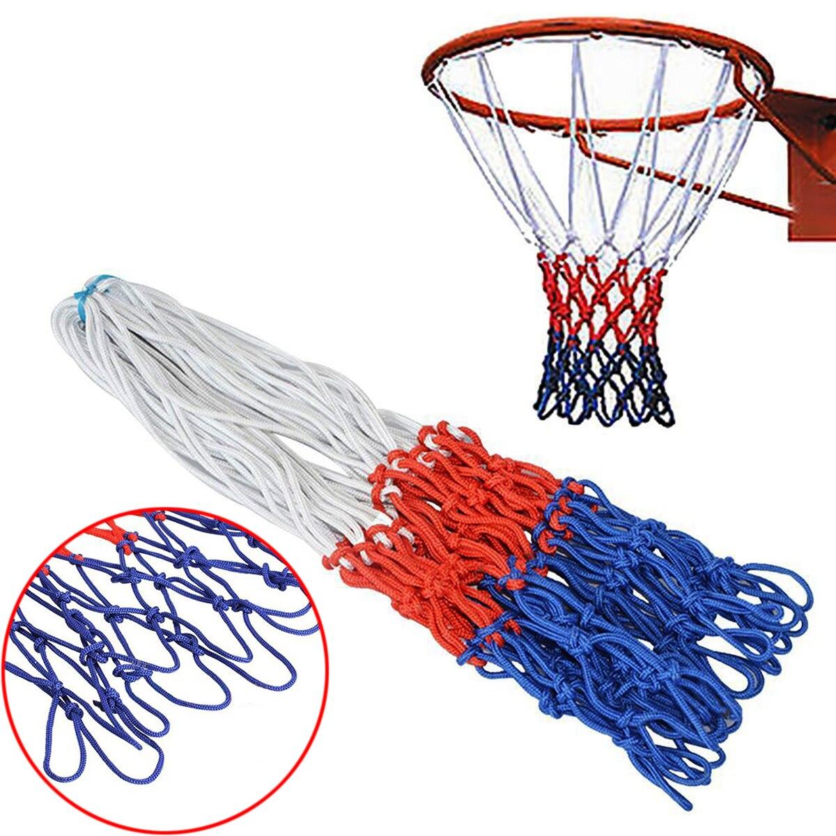 Outdoor Sports Basketball Net Standard Nylon Basketball Net 3 Colors Hoop Mesh Net Backboard Rim Ball Pum Thread Goal Hoop Net
