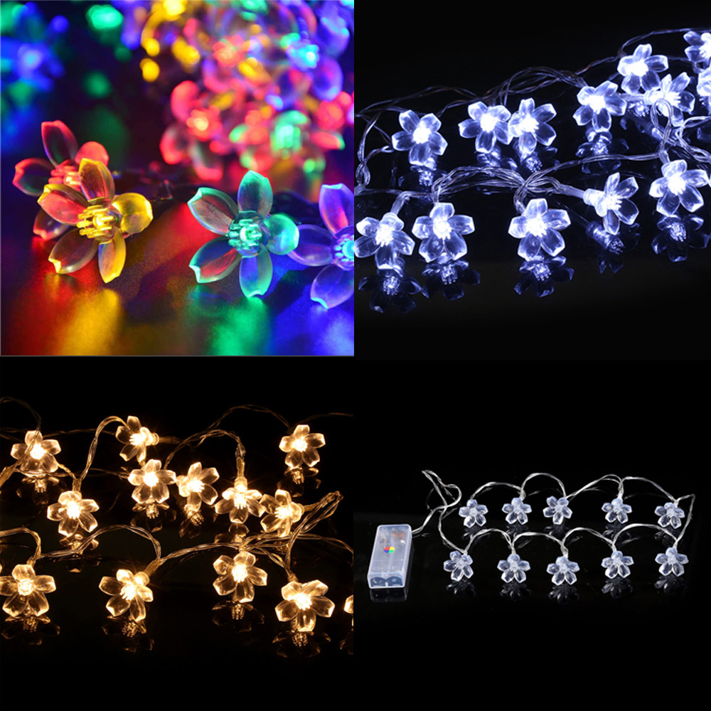 FGHGF Brand 2018 Fairy Lights 10 LED String Lights Party Wedding Garden Outdoor Christmas Decor Lights Xmas Party Garden Decor ...