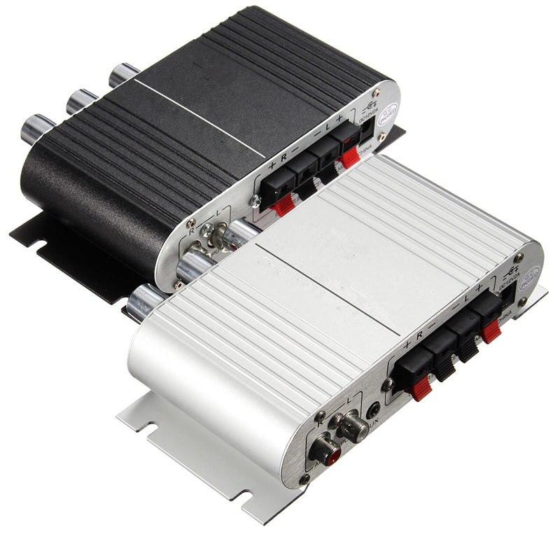 12 В Мини Автомобиль Мотоцикл Hi-Fi стерео Усилители домашние amp для MP3 для Ipod PC DVD CD