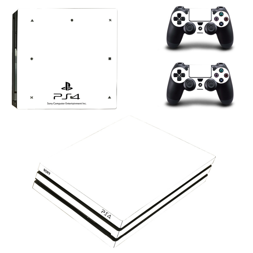 Pure White Black PS4 Pro Skin Sticker Decal For Sony PS4 PlayStation 4 Pro Console and 2 Controllers Skin Stickers VinylPure White Black PS4 Pro Skin Sticker Decal For Sony PS4 PlayStation 4 Pro Console and 2 Controllers Skin Stickers Vinyl