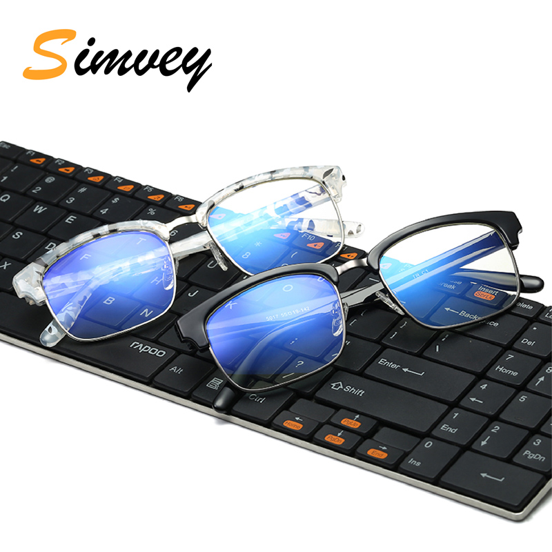 Simvey Fashion Unbreakable TR90 Anti Blue Light Goggles Reading Glasses Radiation Protection Computer Gaming Glasses Women Men