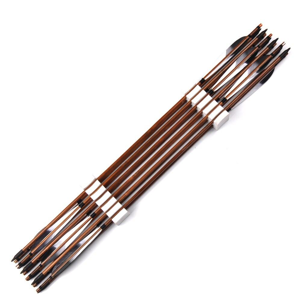 500 setas de bambu com pena do 05