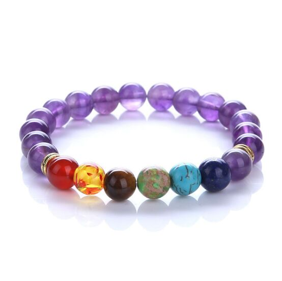 1pc 2019 7 Chakra Bracelet Men Black Lava Healing Balance Beads Reiki Buddha Prayer Natural Stone Yoga Bracelet For Women <font><b>7670</b></font> image