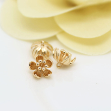 6PCS 7x9MM 24K Champagne Gold Color Plated Brass Plum Flower Charms High Quality Diy Jewelry Accessories