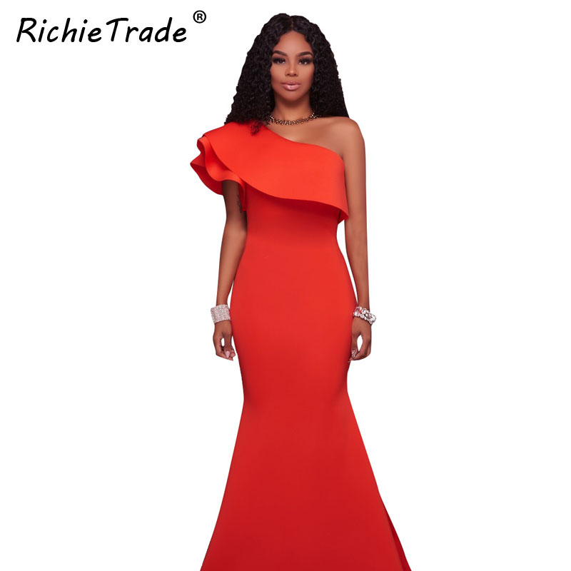 0c3afae6e570 RICHIETRADE Women Party Bodycon Bandage Dress Sexy Khaki Wine Red Off  Shoulder Halter Fishtail Midi Club Backless summer Dresses