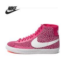 D'origine Nike WMNS BLAZER MID IMPRIMER femmes de Planche À Roulettes Chaussures 536698-603 Haute-top sneakers(China (Mainland))