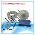 Set Display LCD GSM 900 MHz Repetidor Del Teléfono Celular Amplificador de Señal 10 M cable y antena exterior