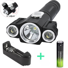 5000Lm XML T6+2R5 LED Flash light Torch 4 Modes Magnetic led