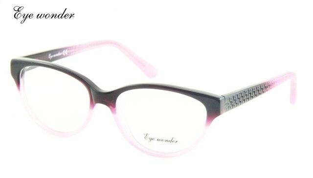 Shopping Festival Maravilha Olho Moda Purple Cat Eye Glasses Frames para Mulheres em Cores Patchwork transporte Da Gota de oculos de grau