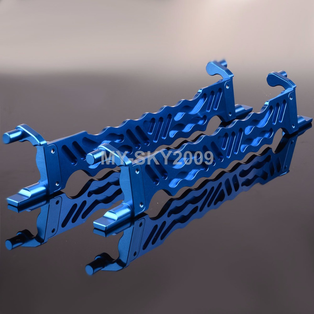 #7719 Blue Aluminum BATTERY HOLD-DOWN & FOA For RC Model Car 1/5th Traxxas X-Maxx 77076 77086 bosch maxx 5 киев
