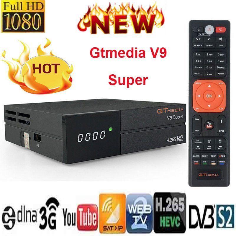 Receptor Gtmedia V9 Super Built-in WIFI Power By Freesat V8 Super DVB-S2 Europe Cline For 3 Years TV Box Same As V8 Nova