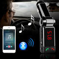 Reproductor de MP3 de Audio del coche FM Transmisor Bluetooth Modulador de FM Inalámbrico de Manos Libres Pantalla LCD USB Cargador auto para el iphone Samsung