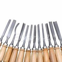 12PCS Wood Carving Hand Chisel Set Woodworking Professional Lathe Gouges Tools