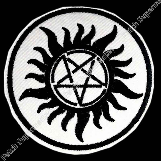 3 Supernatural Anti Possession Tattoo Mc Jacket Back Embroidered