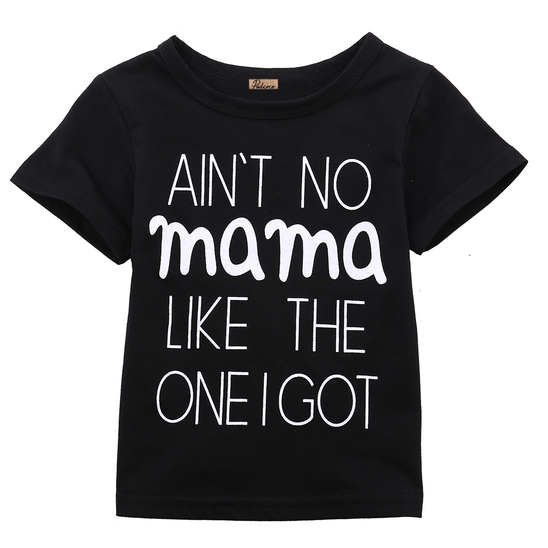 0-24 M Pasgeboren Peuter Baby Jongens Meisjes Kleding Aint No Mama Casual T-shirt Tops Outfits Shrink-Proof