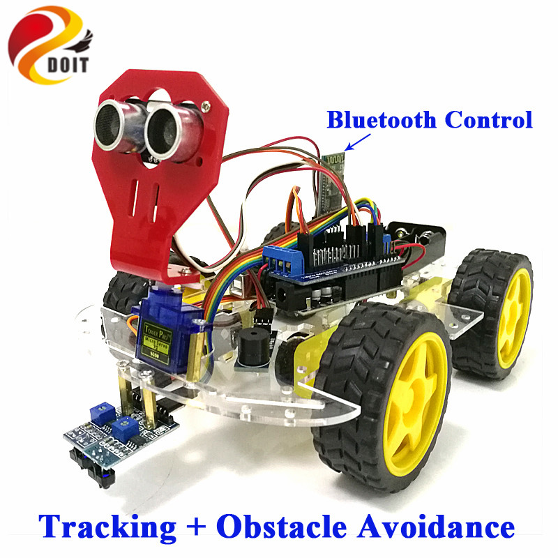 Doit tracking obstacle avoidance robot crawler tank car