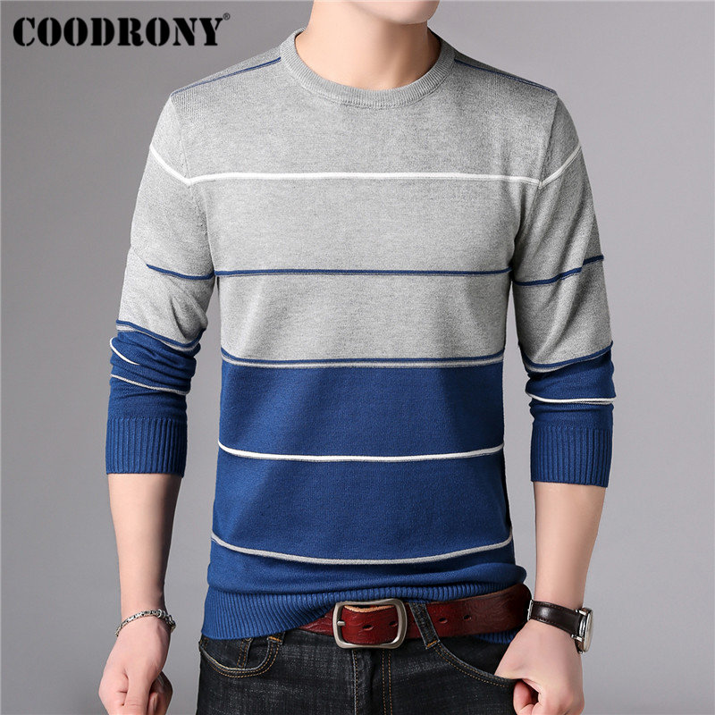 Image 4 - COODRONY Casual O Neck Pull Homme Cotton Sweater Men Clothes 2018 Autumn Winter Soft Wool Pullover Men Long Sleeve Knitwear B015-in Pullovers from Men's Clothing