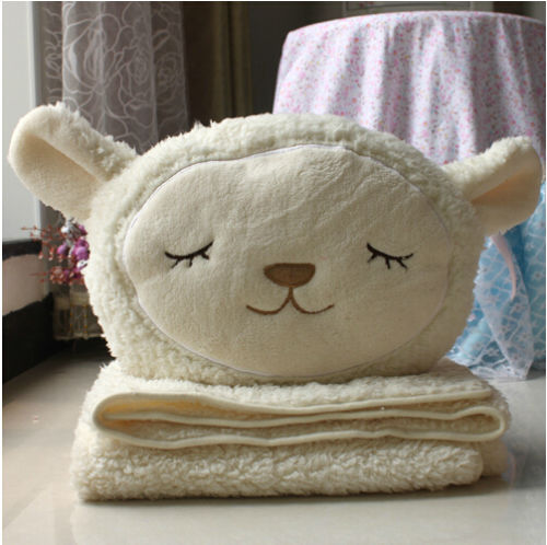Candice guo plush toy stuffed doll multi-function Dolly sheep lamb pillow cushion air-condition blanket birthday gift christmas candice guo plush toy stuffed doll cute minnie mickey lovely rest office air multi function pillow cushion blanket birthday gift