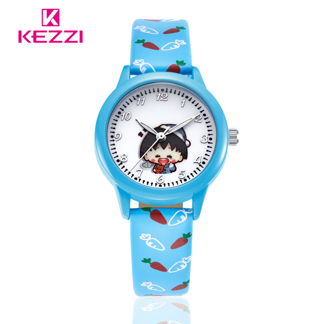 New Arrivals Kezzi Cartoon Watch Children Strap  Pattern Casual Quartz Wristwatch Students Color Clock Ladies Watches 2016