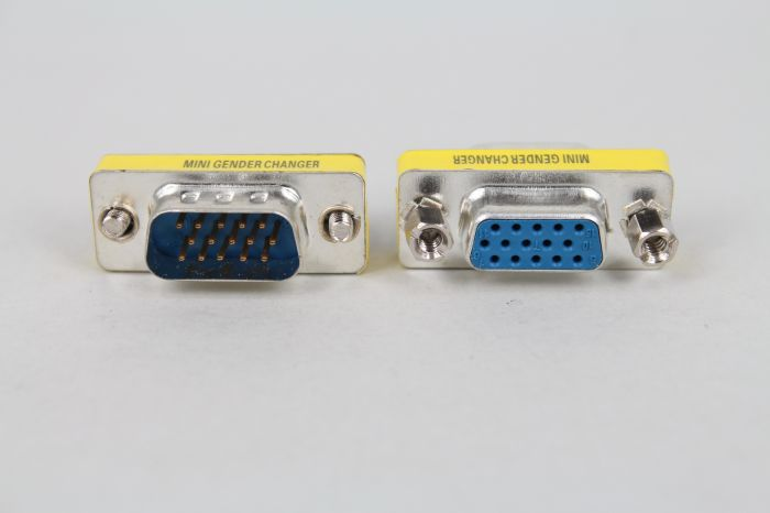 VGA type D connector VGA female DB15 three row 15 pin serial conversion revolution female adaptor
