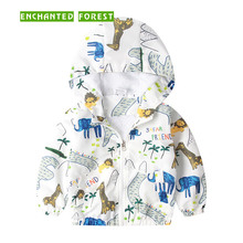 Children's Coats spring and autumn boy girl animal giraffe print hooded zipper windproof warm jacket air conditioning suit wholesale 300pcs lot 2017 spring g air conditioning sunscreen back letter jacket for child girl