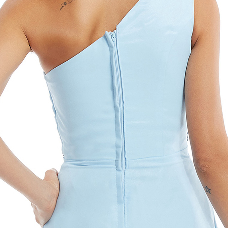 Tanpell une épaule robe de soirée pas cher ciel bleu sans manches - Habillez-vous pour des occasions spéciales - Photo 5
