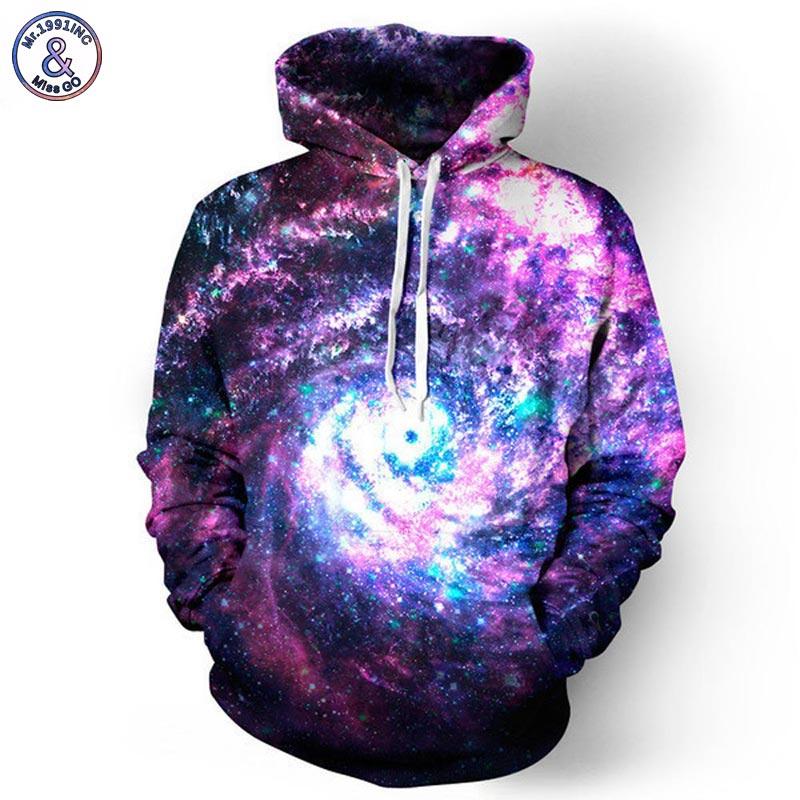 Mr.1991inc espacio Galaxy Sudaderas hombres/mujeres Sudadera con capucha 3D marca ropa capucha impresión Paisley nebulosa chaqueta
