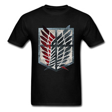T Shirt Attack On Titan T-shirt Men Vintage Logo Tshirt Anime Cosplay Tees Star Wars Rogue One Letter Tops Space X Cowboy Print