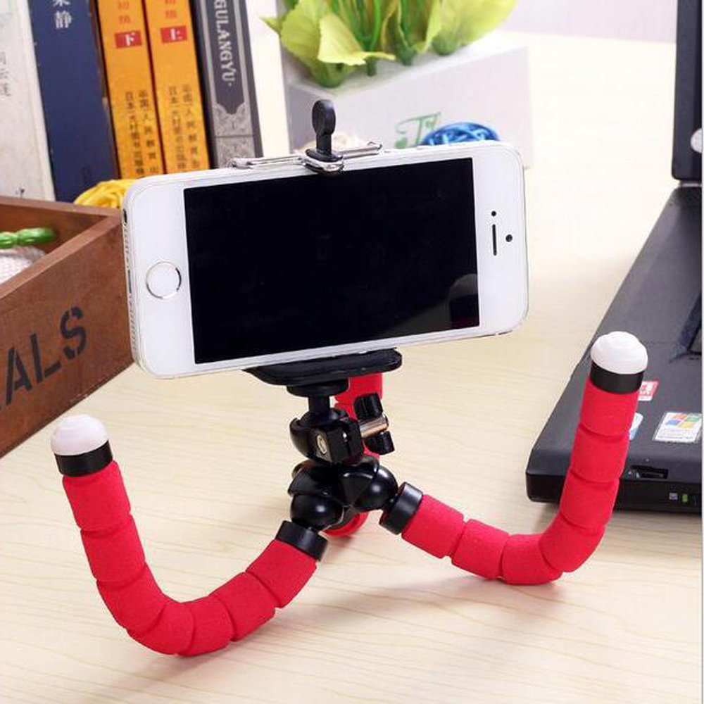 Bicycle car style mobile phone holder flexible octopus font b tripod b font bracket selfie stand