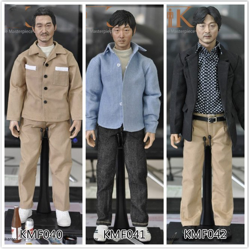 KMF040 KMF041 KMF042 1/6 Scale Asian Male head body and clothes Action Figure Full Set все цены