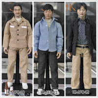 KMF040 KMF041 KMF042 1/6 Scale Asian Male head body and clothes Action Figure Full Set