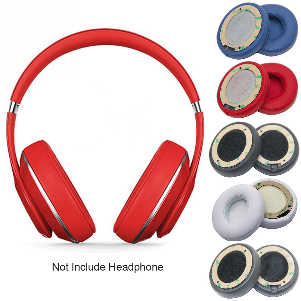 Headphone Ear-Cushion Beats Memory-Foam 1pair-Sponge-Earpads Solo 3-Replacement Wireless