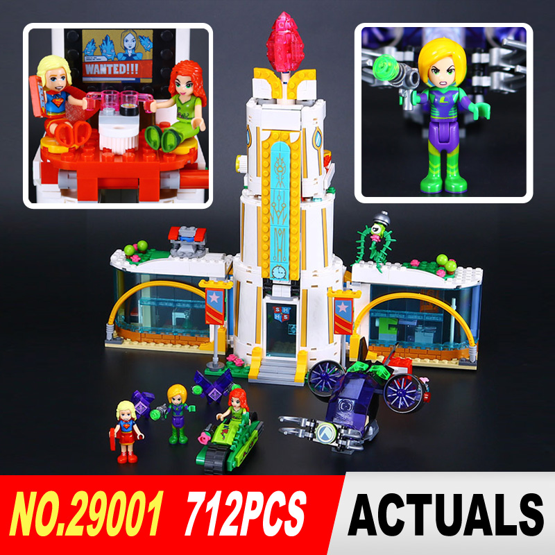 ФОТО Lepin 29001 712Pcs Girl Series The Super Hero High School Set Children Educational Building Blocks Brick Toys Model Gift 41232