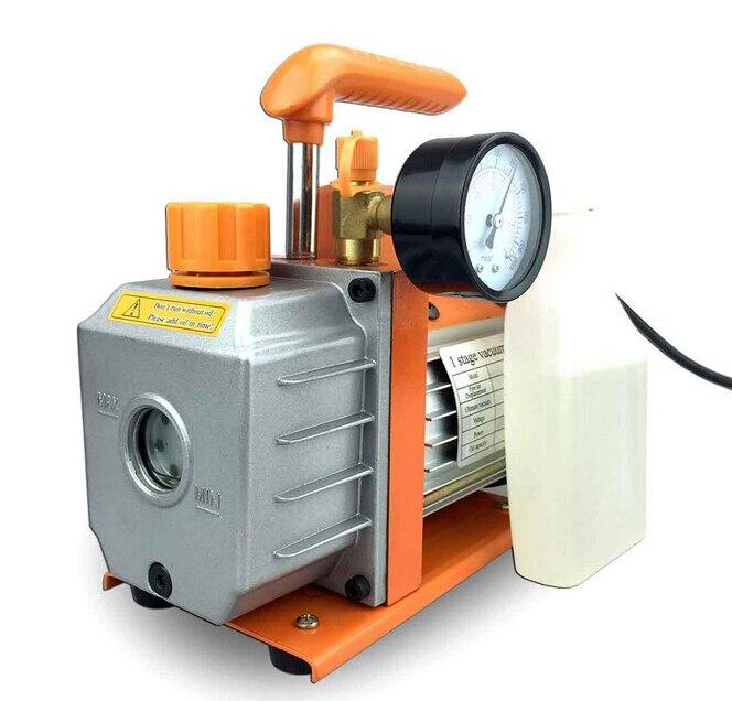 Double Stage 2 5CFM 1 4HP Rotary Vane Vacuum Pump HVAC Air AC A C R410a