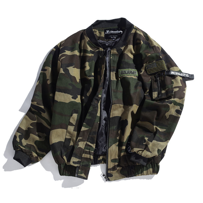 Spring Classic Men's Clothing Army Green Desert Camouflage Military industry Jackets Coats Youth Male Loose bomber Jacket