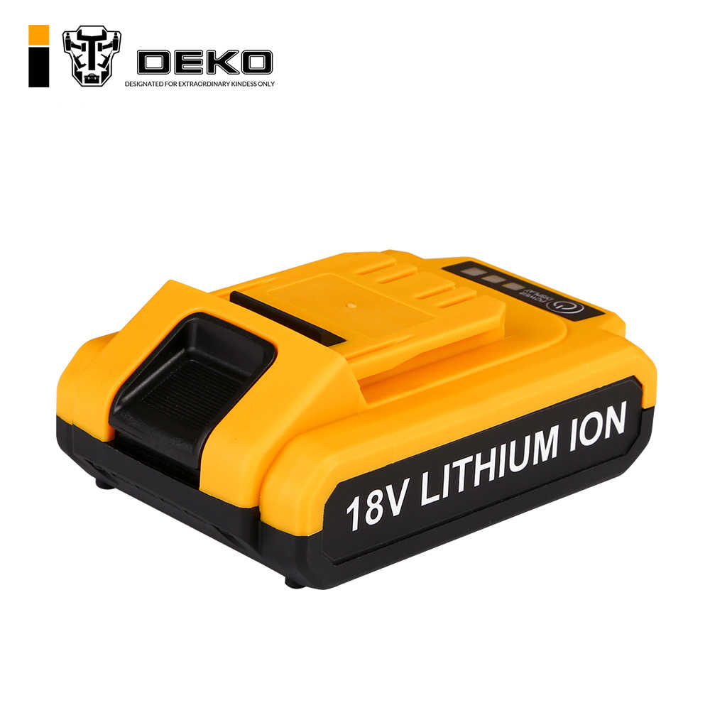 DEKO 18V cordless drill DC New Design Mobile Power Supply Lithium Battery